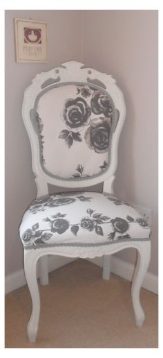 How to Reupholster a Chair! Refurbished Furniture, Upcycled Furniture, Furniture Projects, Furniture Makeover, Painted Furniture, Home Furniture, Bedroom Furniture, Furniture Vintage, Mirrored Furniture