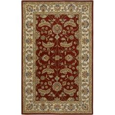 Surya CAE1022-912 Caesar 9' x 12' Rectangle Wool Hand Tufted Traditional Area Ru - Red
