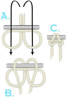 bushcraft camping Cold Weather bushcraft camping Tips Napoleon Claw Knot-Diagramm ropeknots Napoleon Claw Knot-Diagramm You are in the right place… - camping knots Survival Knots, Survival Tips, Survival Skills, Rope Knots, Macrame Knots, Tying Knots, Knots Guide, Micro Macramé, Paracord Projects