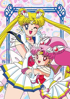 Sailor Moon and Chibi Moon by riccardobacci.deviantart.com on @DeviantArt