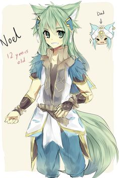 Rune Factory 4, what Leon and Frey's child should look like