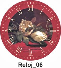 """Láminas para decoupage"" Clock Craft, Vintage Postcards, Vintage Clocks, Round Pendant, Digital Image, Vintage Christmas, Miniatures, Paper Crafts, Clip Art"
