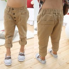>> Click to Buy << Baby Kids Boys Retro Clothes Khaki Casual Pants Straight Trousers 2-7Y Children Baby Trousers #Affiliate