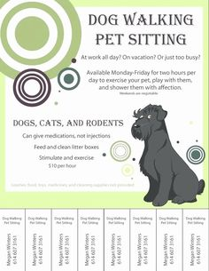 Pet Sitting Flyer Template Free New Dog Walking Flyers Free Ktunesound Flyer Free, Free Flyer Templates, Business Flyer Templates, Design Templates, Booklet Design, Design Layouts, Pet Sitting Business, Dog Walking Business, Dog Walker Flyer