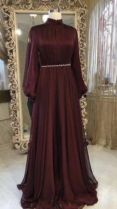 Hijab Evening Dress, Hijab Dress Party, Prom Party Dresses, Indian Fashion Dresses, Muslim Fashion, Dress Muslim Modern, Muslim Dress, Prom Dresses Long With Sleeves, Stylish Dresses