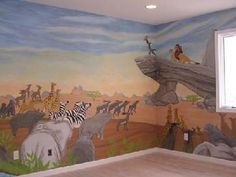 Lion King Mural Pictures and Photos