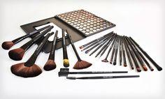Groupon - $ 25.99 for a Beauté Basics 24-Piece Makeup Brush Set ($ 149.95 List Price). Free Shipping and Returns.. Groupon deal price: $25.99