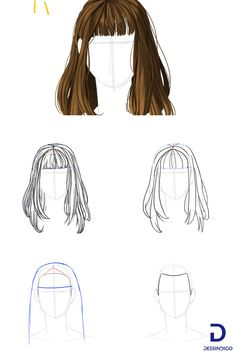 How to draw a woman's hair. Here we look step by step how to draw a woman's hair from the first features to the details. Drawing Techniques, Drawing Tips, Drawing Reference, Small Drawings, Pencil Drawings, Art Drawings, Dance Paintings, How To Draw Hair, Art Tips