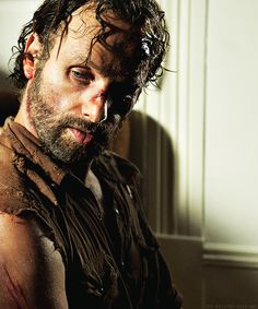 The Walking Dead...Andrew Lincoln as Rick Grimes.