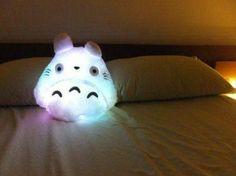 PRE - ORDER Cute Kawaii Totoro Anime LED colorful plush pillow