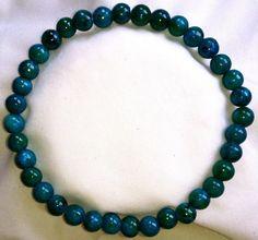 Azurit Chrysokoll Heilstein Perlen Armband