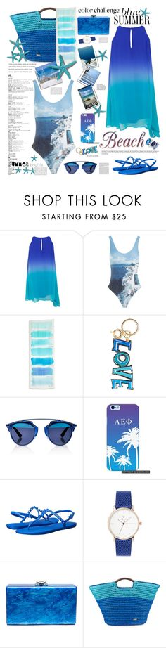 """SUMMER BRIGHTS"" by licethfashion ❤ liked on Polyvore featuring Orlebar Brown, bleu, Kate Spade, Lanvin, Christian Dior, Havaianas, Edie Parker, Cappelli, summerbrights and licethfashion"