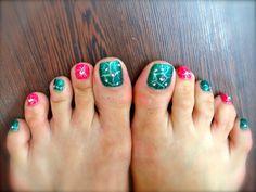 toe nails Wow Nails, Cute Toe Nails, Cute Toes, Pretty Toes, Cute Toenail Designs, Toe Nail Designs, Nails Design, Nail Patterns, Pedicure Ideas