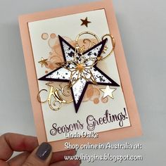 Linda Dalke: Video Tutorial: So Many Stars Copper and Mercury Glass card - Stampin Up - Weihnachten Christmas Mom, Stampin Up Christmas, Handmade Christmas, Christmas 2019, Xmas Cards Handmade, Cas Christmas Cards, Holiday Cards, Christmas Ideas, Star Cards