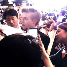 Thomas Sangster with fans gif