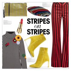 """""""Pattern Challenge: Stripes On Stripes"""" by queenvirgo ❤ liked on Polyvore featuring Christopher Kane, Marques'Almeida, Topshop, Stele, Dolce&Gabbana, Sonia Rykiel, stripesonstripes and PatternChallenge"""