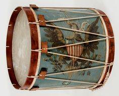 American Military Long Drum, 1845-1865.