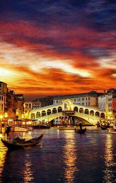 Sunset in Venice, ltaly