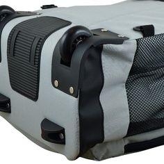 NFL Carolina Panthers Premium Wheeled Backpack - Grey, Durable