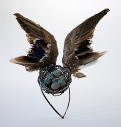 'Bird's Nest' headdress on The Museum of Savage Beauty