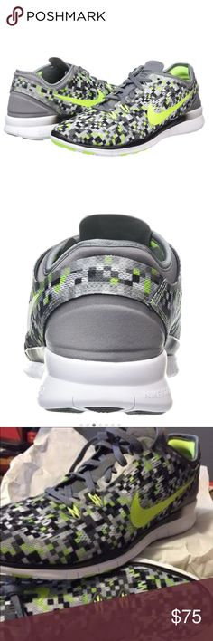 💕Nike Women Free 5.0 Training Shoe💕 Nike Women's Free 5.0 Tr Fit 5 Prt Training Shoe size: 10. Cooke Grey/Black/Volt! Gently used, only warn once! GREAT condition, like new! No Box🚨PRICE FIRM🚨 Nike Shoes Sneakers