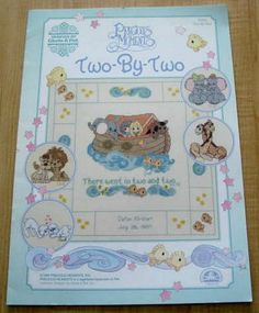 Precious Moments Two by Two Noahs Ark Cross Stitch Pattern Booklet | VintageJunque - Books & Magazines on ArtFire