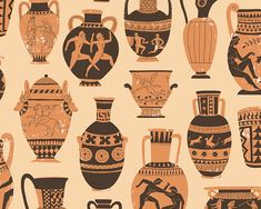 Ancient Greece Fashion, Ancient Greece For Kids, Ancient Greek Art, Ancient Greek Tattoo, Egyptian Art, Ancient Aliens, Ancient Egypt, Greece Goddess, Seed Illustration