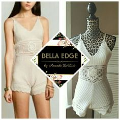 Ivory crochet boho romper Beautiful crochet romper perfect for vacations, beach cover ups, or just to wear out! Material is stretchy, lightly lined cups, straps are adjustable. Size small to medium, mannequin is wearing a small. Color is ivory  Price FIRM unless bundled. April Spirit Dresses