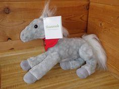 Wells Fargo 2013  Gray Polka Dots Plush Pony Horse Pony Shamrock Plushie NWT