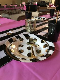 Kate Spade inspired paper place setting