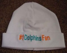 fd85c7a148c Miami Dolphins NFL Football Baby Infant Newborn Hat Beanie Hat Cap Baby  Dolphins