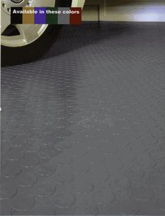 Coin Pattern Garage Flooring does not require any adhesives, simply sweep the Garage Floor and unroll the mats, in a matter of minutes you will have the best looking Garage Floor in the neighborhood.
