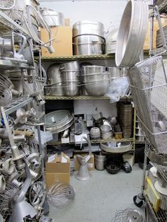 From SAVEUR Issue The warehouselike Kerekes Baking and Restaurant Supply in Brooklyn, New York, has virtually every baking and confectionery mold, pan, and tool known to man. Restaurant Supply Store, Baking Supplies, Brooklyn, Confectionery, Apple, York, Big, Cooking, Places
