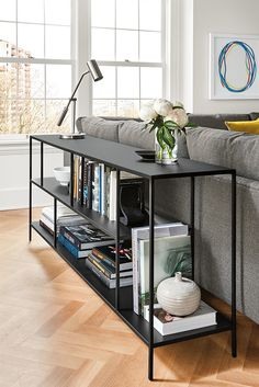 Foshay Console Bookcase in Colors - Modern Console Tables - Modern Living Room Furniture - Room & Board Modern Storage Furniture, Living Furniture, New Furniture, Office Furniture, Rustic Furniture, Antique Furniture, Outdoor Furniture, Bedroom Furniture, Entryway Furniture