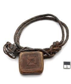 Africa | Amulet Talisman ~ ejap ~ from the Hadendowa, Beja people of the Kassala region of Sudan.  Leather | 19th century