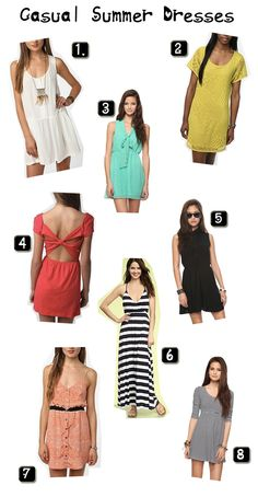 Casual dresses for summer!