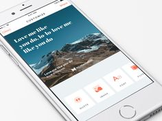 The Best of iOS & OS X we've seen in (late) 2015 — Design, Code and Prototyping Best Ui Design, App Ui Design, Ellie Goulding, Card Ui, Mobile Web Design, Ui Design Inspiration, Mobile Application, Interactive Design, Material Design
