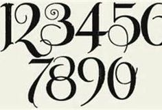 Calligraphy Numbers | from Bing Images
