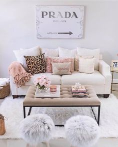 "9,226 Likes, 66 Comments - #LTKhome (@liketoknow.it.home) on Instagram: ""Sweeten up your sitting room style with rosy velour throws, a faux pouf duo and cozy cream hues a…"""