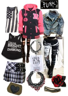"""Punk"" by redrawlins ❤ liked on Polyvore"