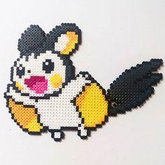 Emolga (587) Pokemon perler beads by beadsbyalex