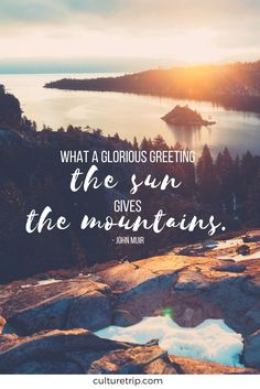 What a glorious greeting the sun ☀️ gives the mountains.