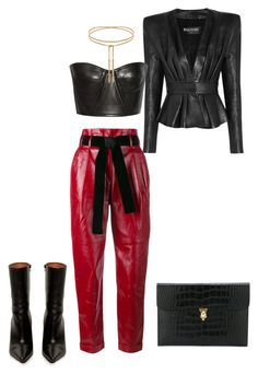 """""""Untitled #543"""" by jazz-mae on Polyvore featuring Balmain, Philosophy di Lorenzo Serafini, Vetements and Alexander McQueen"""
