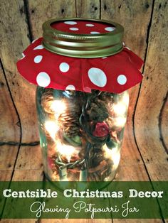 handmade gift glowing potpourri mason jar - perfect christmas holiday gift for teachers