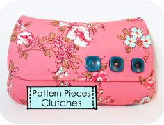 Just Pattern Pieces - Clutches - {michellepatterns.com}