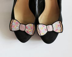 Donut Bow Shoe Clips Junk Food Accessories by JanineBasil on Etsy