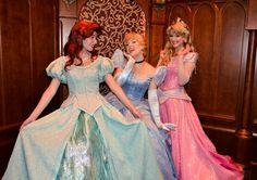 Ariel, Cinderella, Aurora
