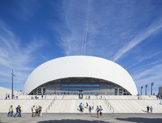 SCAU designed the undulating fibreglass roof of Marseille's football stadium, which has hosted a few of the key UEFA Euro 2016 games Monuments, Velodrome Marseille, Stadium Architecture, Uefa Euro 2016, Fibreglass Roof, Tokyo Olympics, Sports Complex, Football Stadiums, Zaha Hadid