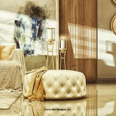 Neoclassical Interior, Ottoman, Interior Design, Chair, Luxury, Bed, Furniture, Instagram, Home Decor