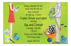 Jack and Jill Bridal Shower Invitations, 28561 idea to work with! Couples Wedding Shower Invitations, Bridal Invitations, Showers Of Blessing, Garden Shower, Jack And Jill, Couple Shower, Lawn And Garden, Wedding Fun, Summer Wedding